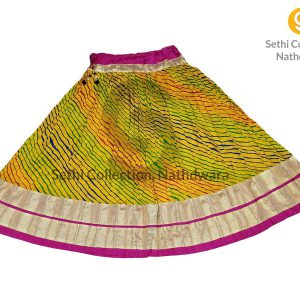 Lemon-yellow-Leheriya-gold-border-lehenga-sethi-collection