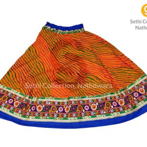 Orange-Leheriya-lehenga-sethi-collection