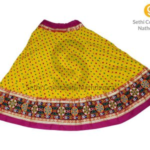 lemon-yellow-dotted-bandhej-lehenga-sethi-collection