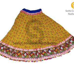 lemon-yellow-flower-bandhej-lehenga-sethi-collection