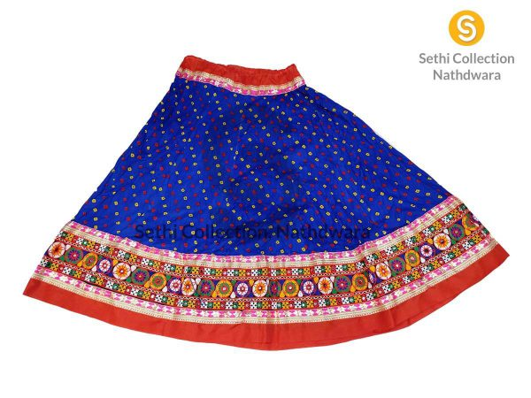 royal-blue-dotted-bandhej-lehenga-sethi-collection