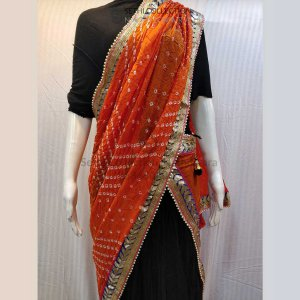 Orange-bandhani-dupatta-gotta-patti-work-sethi-collection
