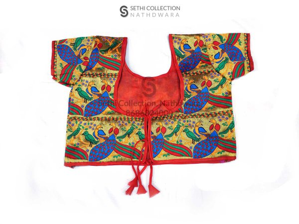 Red-Mor-Work-Designer-Blouse-nathdwara