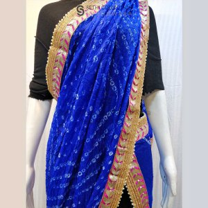 Royal-Blue-bandhani-dupatta-gotta-patti-work-sethi-collection